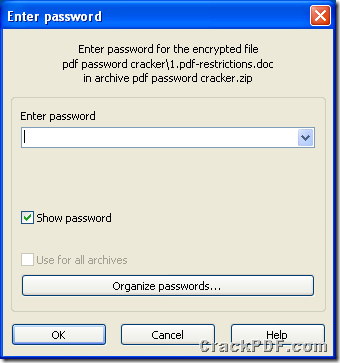 a password protected ZIP archive