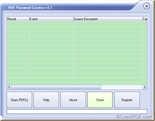 crack PDF password using PDF Password Cracker