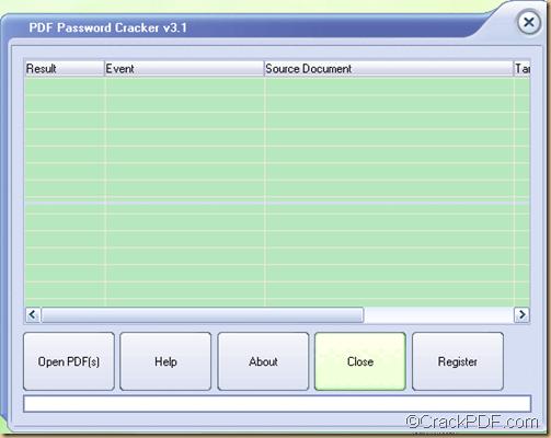 recover PDF password using PDF Password Cracker