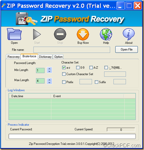 how to set password on windows zip file