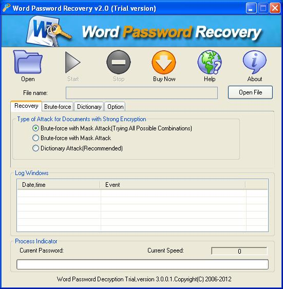 Office Password Breaker (free version) download for PC