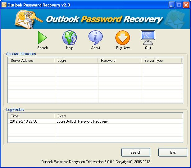 Outlook Password breaker