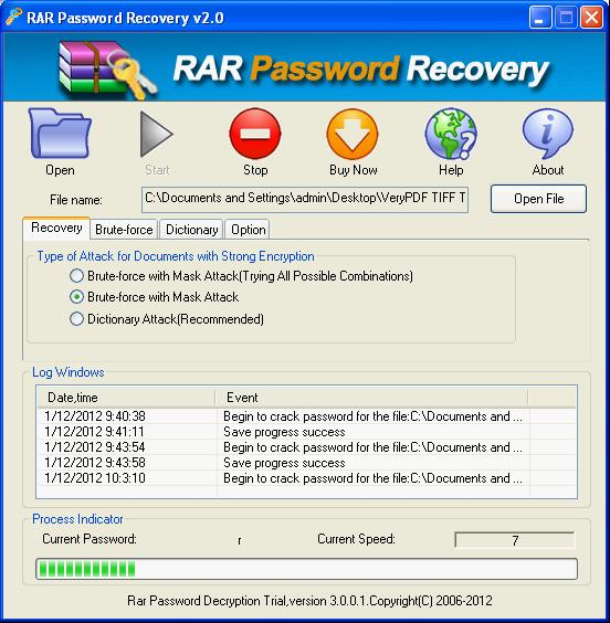 how to crack winrar file password with cmd