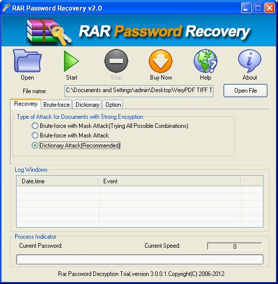 RAR Password Breaker Screenshot