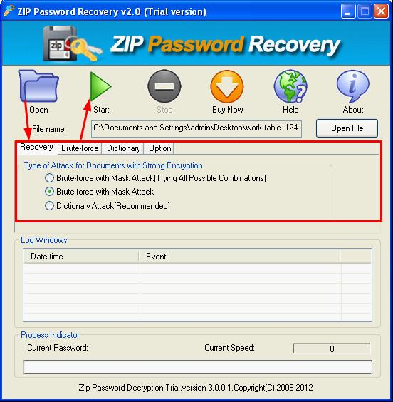ZIP Password Decrypter Screenshot