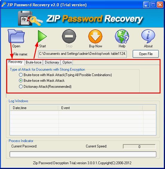 zip cracker: